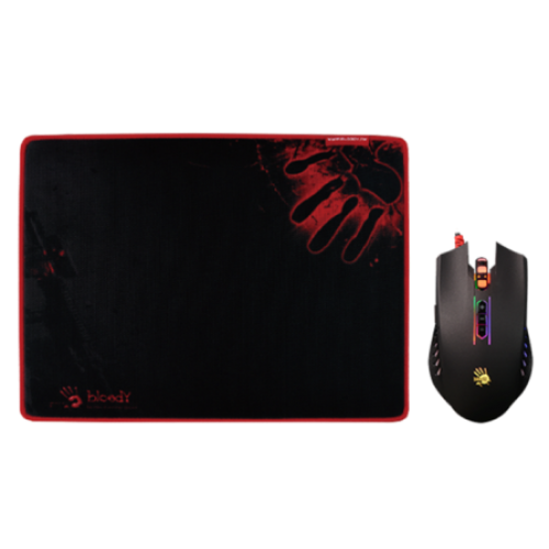 A4 Tech Q8181S Neon X'Glide Gaming Mouse & Mouse Pad