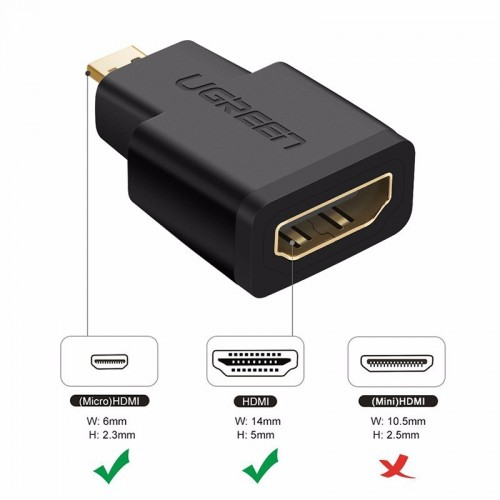 Ugreen 20106 Micro HDMI Male to HDMI Female Adapter