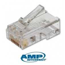 AMP Cat 6 RJ45 Cable Connector - Pack Of 100 Pieces