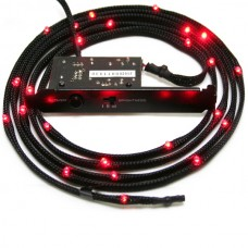 NZXT Sleeved LED 100cm Red Cable