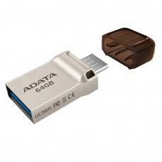 Adata UC360 OTG USB 3.1 Golden 64 GB Pen Drive