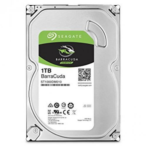 Seagate Internal 1TB SATA Barracuda HDD
