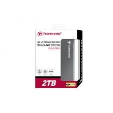 "Transcend 2TB 2.5"" StoreJet 25C3N Extra-Slim USB 3.0 Portable Hard"