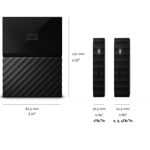 Western Digital External 4Tb My Passport Hard Disk Drive