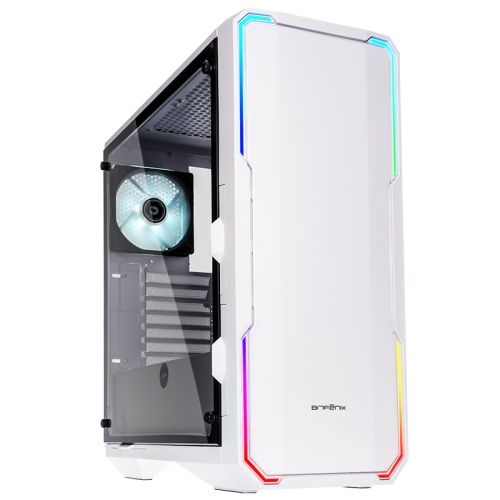 BitFenix Enso ATX Mid Tower Tempered Glass Window White Gaming Case