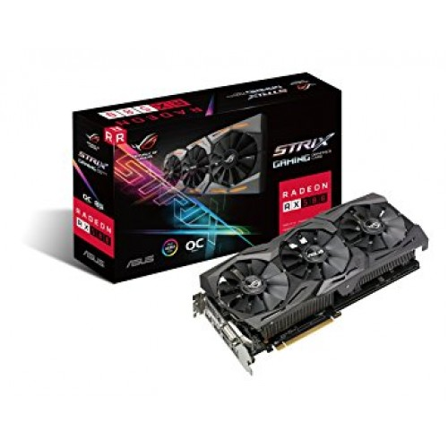 Asus Rog Strix Radeon RX 580 OC 8GB GDDR5 Gaming Graphics Card