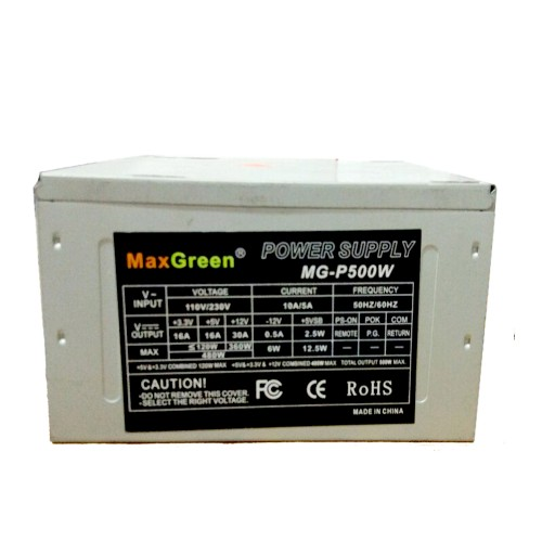 MaxGreen 500 Watt power supply