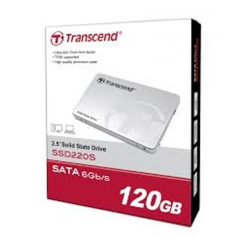 """Transcend SSD220S 2.5"""" SSD SATA III 6Gb/s Internal 120GB SSD"""