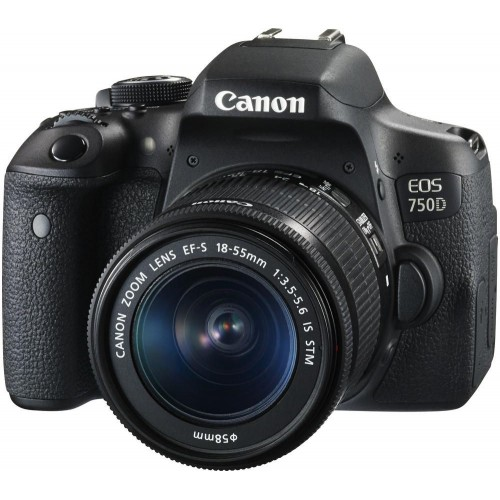 Canon EOS 750D DSLR 24.2 MP Built-in Wi-Fi With 18-55mm Lens