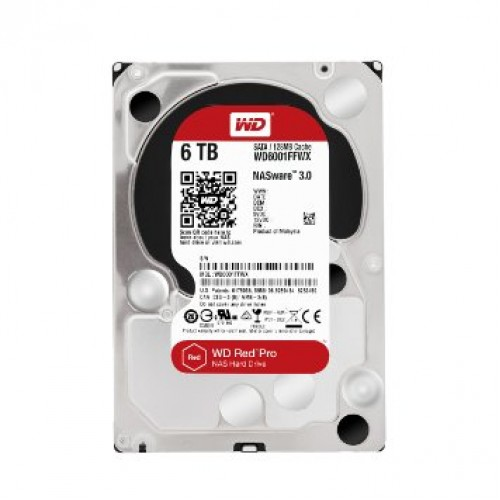 "Western Digital 6TB 3.5"" RED Pro WD6001FFWX Hard Drive"