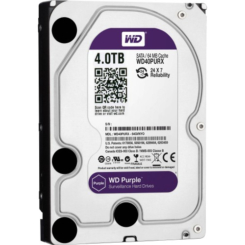 "Western Digital 4TB 3.5"" PURPLE HDD SURVEILLANCE-CLASS WD40PURX"