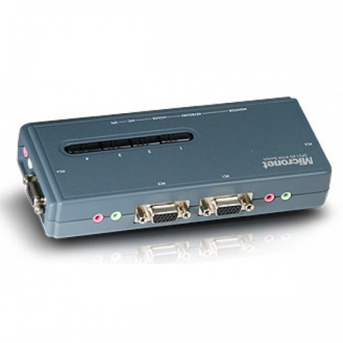 Micronet SP214D 4-PORT KVM Switch With 4 USB Cable