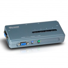 Micronet SP214EL 4-PORT KVM SWITCH WITH 4 PS/2 CABLE