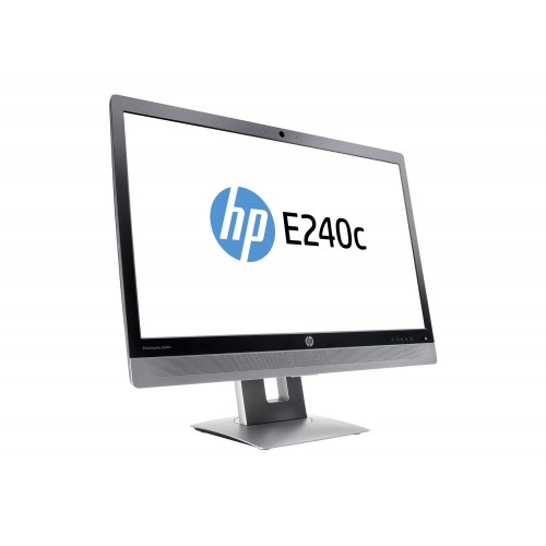 "HP EliteDisplay E240c Full HD 24"" Video Conferencing Monitor"