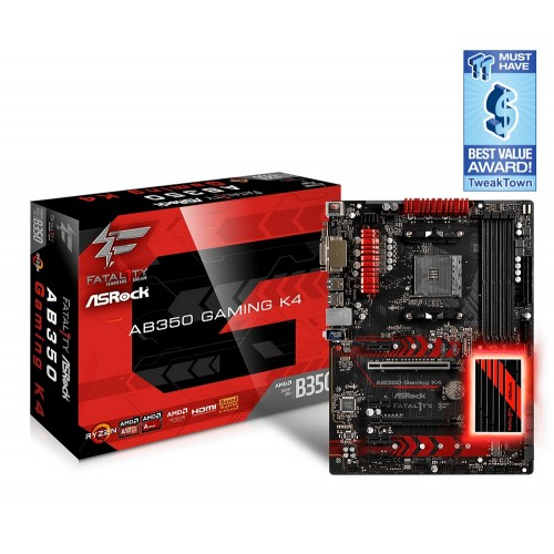 ASRock Fatal1ty AB350 Gaming K4 Motherboard