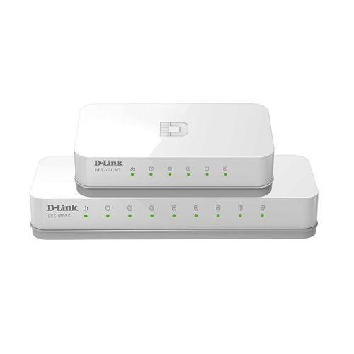 D-LINK DGS-1008C 8-PORT 1000BASE Unmanaged Switch