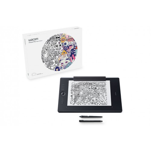 Wacom PTH-660/K1-CX Intuos Pro Medium Paper Edition Dimensions 33.4 x 21.7 x 0.8 cm Pen Graphics Tablet