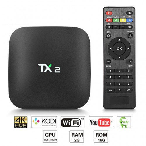Android TV Box TX2-R2 with 2GB RAM & 16GB ROM
