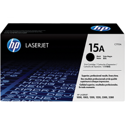 HP 15A Black Original LaserJet Toner Cartridge (For LJ P1200)