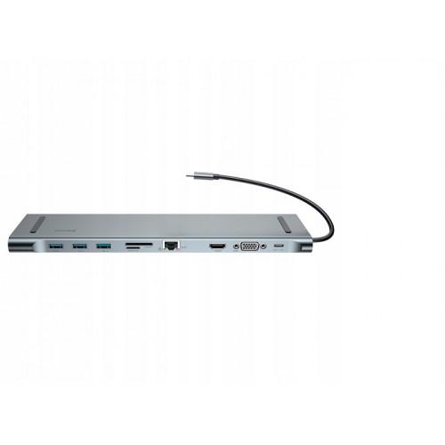 Baseus Enjoyment Series C-C3UEHVMSDC35 10 in 1 Type C HUB Notebook Multifunction Docking Station
