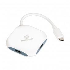 Micropack MDC 4A HUB White (Usb Type C to 4 Port USB 3.0)