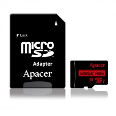 Apacer 128GB Micro SD Class-10 Memory Card with Adapter (AP128GMCSX10U5-R)
