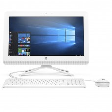 HP AIO 20-C405D 7th Gen Intel Core i3 White All in One PC