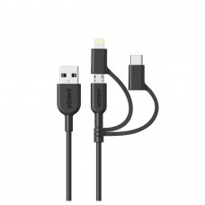 Anker A8436 PowerLine ll 3 in 1 Lightning Charging Cable