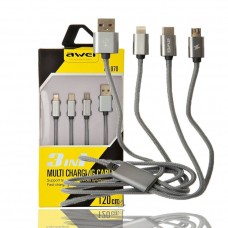 AWEI CL-970 3 in 1 Multi Charging Data Cable (120cm)
