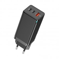 Baseus Gan Quick 2 Pin Travel Charger 65W EU Black