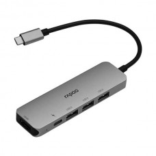 Rapoo XD100 Multifunction 5 in 1 Type C Adapter