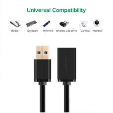 Ugreen USB3.0 A male to female flat cable Black 2M