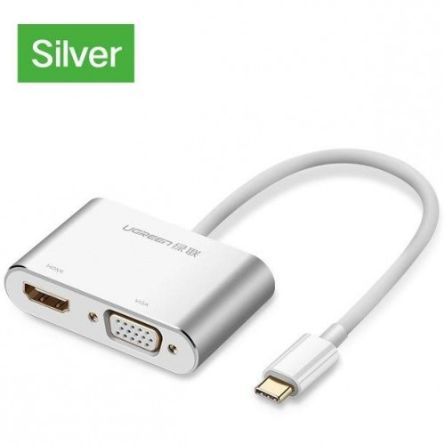 UGREEN 50317 USB-C to HDMI+VGA Converter Aluminum case