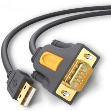 Ugreen DB9 RS-232 Male to Male Cable Converter Black 1.5 Meter