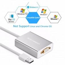 Ugreen USB 2.0 to VGA converter Silver 80CM