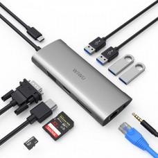 WIWU Alpha A11 in 1 USB Type C HUB Gray
