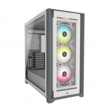 Corsair iCUE 5000X RGB Tempered Glass Mid-Tower ATX PC Smart Case - White