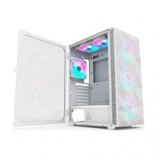 Montech X3 MESH RGB Lighting Mid-Tower ATX Gaming Case White