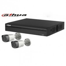 DAHUA 04 Channel XVR With 02 Units HD-CVI  720p Camera