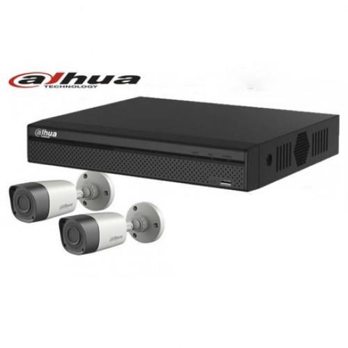 DAHUA 04 Channel XVR With 02 Units HD-CVI  720p Camera