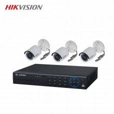 HIKVISION 3 unit 720P night vision security cc camera Package