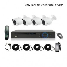 Full HD 720p 04 Channel Jovision DVR With 04 Units Full HD 720p Hikvision Camera