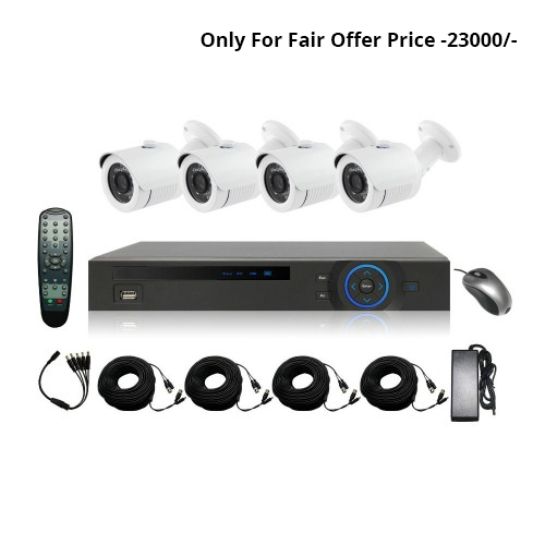 Full HD 720p 08 Channel Jovision DVR With 05 Units Full HD 720p Hikvision Camera