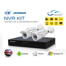 Jovision Full HD IP 02 Units Camera With 08 Chanel HD NVR