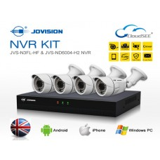 Jovision Full HD IP 04 Units Camera With 08 Chanel HD NVR