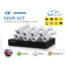 Jovision Full HD IP 08 Units Camera With 08 Chanel HD NVR