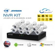 Jovision Full HD IP 08 Units Camera With 08 Chanel HD NVR
