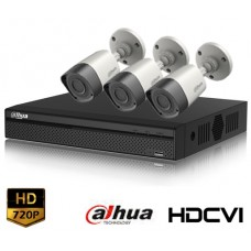 HD-CVI 04 Channel DVR With 03 Units HD-CVI 720p Camera