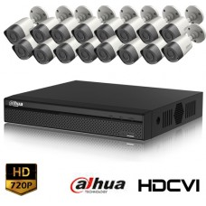 HD-CVI 16 Channel DVR With 16 Units HD-CVI Camera