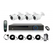 HD-CVI 04 Channel DVR With 04 Units HD-CVI 720p Camera